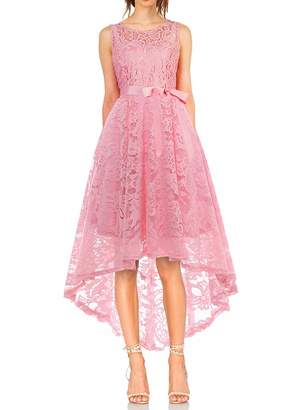 KT SUPPLY Lace Dresses for Women High Low Cocktail Bridesmaid Wedding Special Occasions S