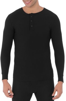 Fruit of the Loom Big Mens Classic Thermal Henley Top