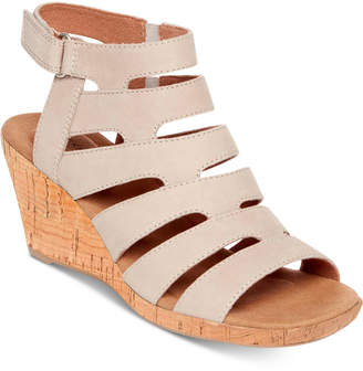 Rockport Briah Banded Sling Wedge Sandals Women's Shoes