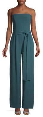 Carolina Herrera Off-The-Shoulder Silk Jumpsuit