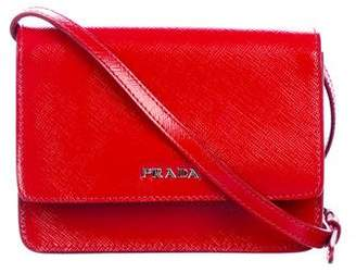 Prada Saffiano Lux Wallet On Strap