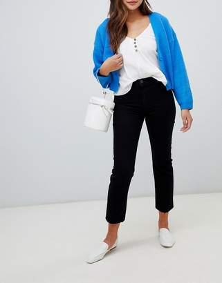 Miss Selfridge straight leg jeans in black