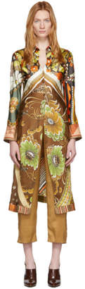 Chloé Multicolor Silk Caravan Print Tunic Shirt