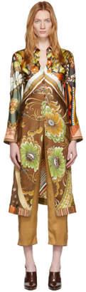 Chloé Multicolor Silk Caravan Print Tunic Shirt