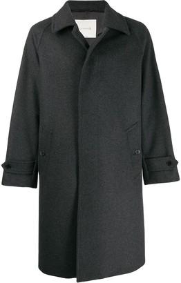 MACKINTOSH BLACKRIDGE Charcoal Wool & Cashmere Oversized Overcoat GM-113F