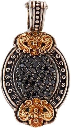 Konstantino Asteri Petite Oval Pave Black Diamond Pendant