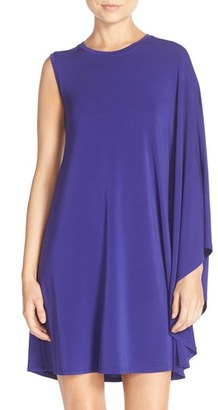BCBGMAXAZRIA 'Kathie' One-Shoulder Jersey Trapeze Dress $158 thestylecure.com