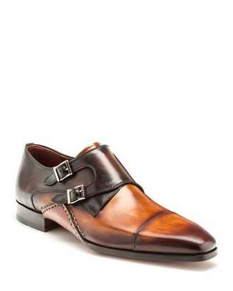 Magnanni Men's Ondara Double-Monk Two-Tone Leather Shoes