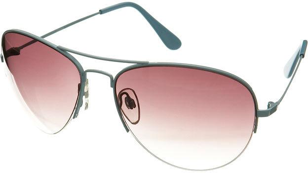 Turquoise Aviator Sunglasses