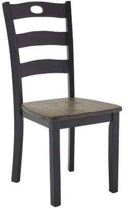 Signature Design by Ashley Set of 2 Froshburg Dining Room Side Chair Black/Brown
