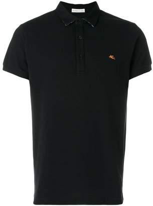 Etro front logo polo shirt