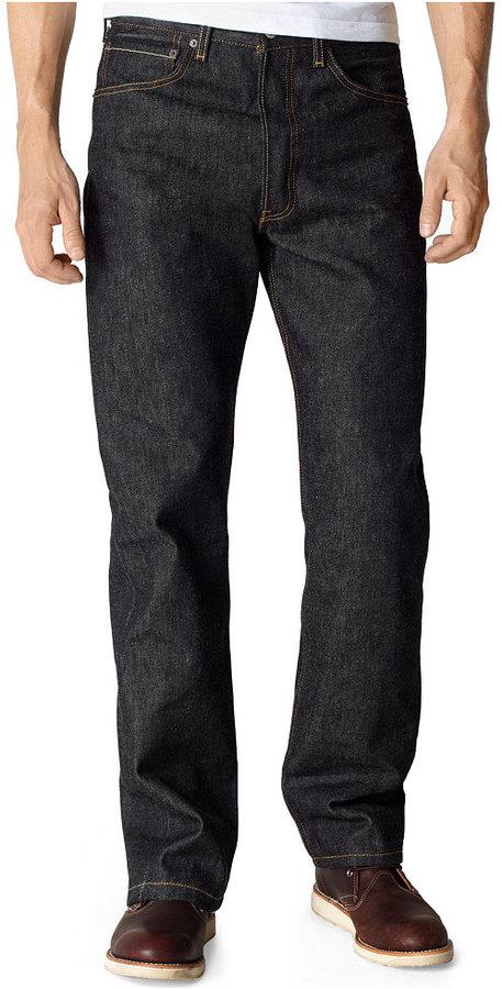 Levi's 501 Original Shrink-to-Fit Fit Black Rigid Jeans