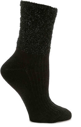 Mix No. 6 Top Fur Sparkle Crew Socks - Women's