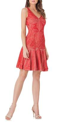 JS Collections Soutache Flounce Hem Dress