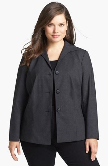 Lafayette 148 New York Stretch Wool Jacket (Plus Size)