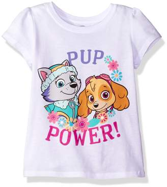 Nickelodeon Little Girls' Toddler Paw Patrol Pup Power Short-Sleeved Puff T-Shirt