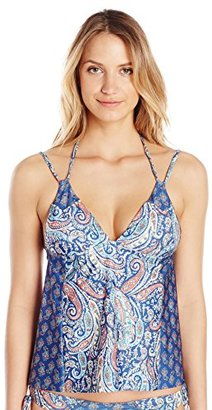 Lucky Brand Women's Verna Floral Tankini with Removable Cups $31.20 thestylecure.com