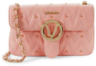 Mario Valentino Valentino By Embellished Leather Crossbody Bag