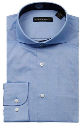 Vince Camuto Dobby Cutaway Collar Wrinkle Free Slim Fit Dress Shirt