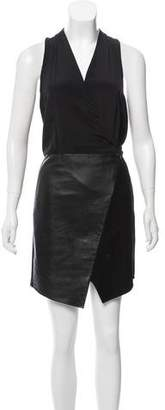 Tibi Silk Sleeveless Mini Dress