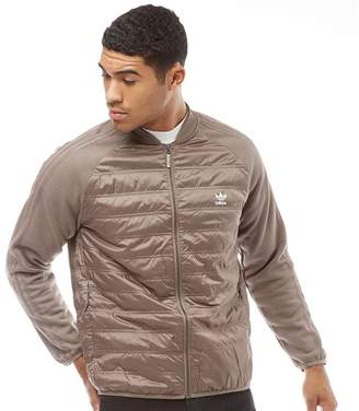 adidas Mens SST Quilted Track Top Tech Earth