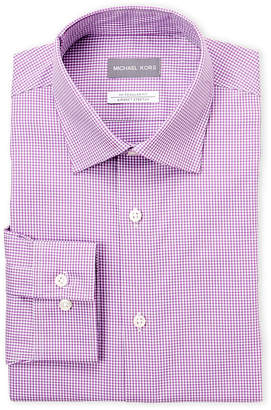 Michael Kors Plum Check Dress Shirt