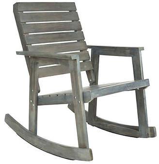 One Kings Lane Cabot Rocking Chair - Gray
