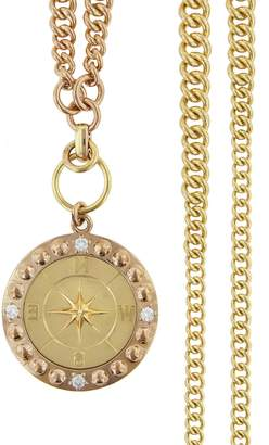 Foundrae Course Correction Ombré Curb Necklace - Yellow and Rose Gold