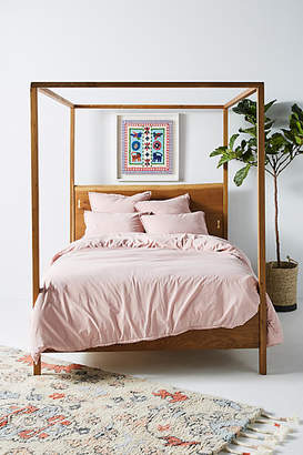 Anthropologie Dotted Trim Duvet Cover