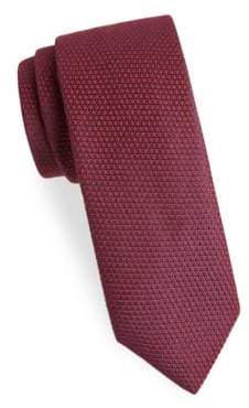 Charvet Men's Textured Wool& Silk Tie - Dark Red