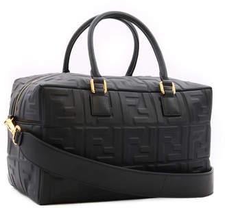 Fendi Boston Bag Small Embossed Leather