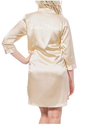 Cathy's Concepts Cathy Concepts Team Bride Gold Satin Night Shirt