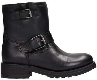 Ash Black Calf Leather Tear Boots