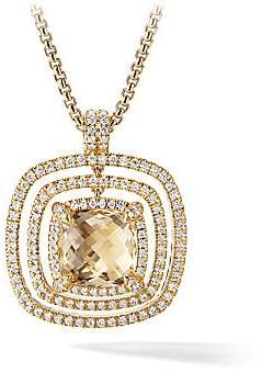 David Yurman Women's Chatelaine 18K Yellow Gold, Champagne Citrine and Diamonds Pavé Bezel Enhancer