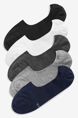 Next Mens Multi Invisible Socks Five Pack - Grey