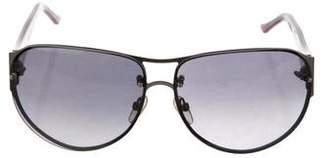 Judith Leiber Shield Embellished Sunglasses