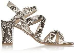 Paul Andrew Lotus Python Slingback Sandals