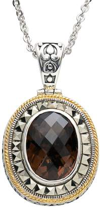 Lavish By Tjm Lavish by TJM Sterling Silver Smoky Quartz Frame Pendant Necklace