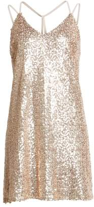 Love, Fire Strappy Sequin Slipdress