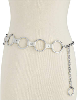 Steve Madden Circle-Link Chain Belt