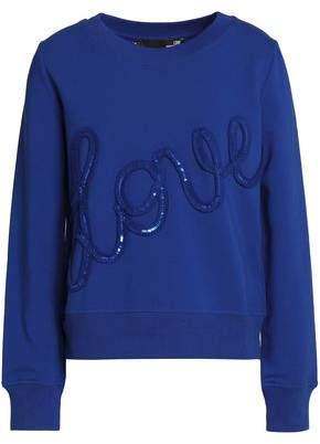 Love Moschino Sequin-Appliquéd Cotton-Terry Sweatshirt