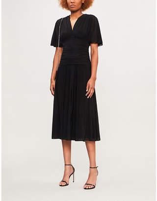 Diane von Furstenberg Ruched mesh dress