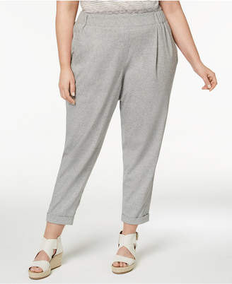 Eileen Fisher Plus Size Cotton Slouchy Pants