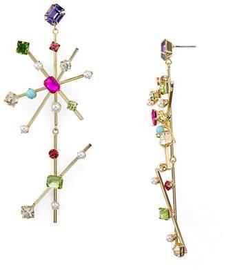 RJ Graziano Double Starburst Drop Earrings
