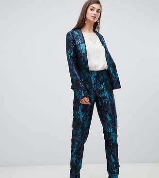 Paper Dolls Tall premium jacquard tailored trouser co-ord in multi