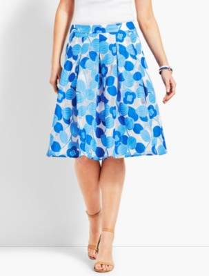 Talbots Floral Full Skirt