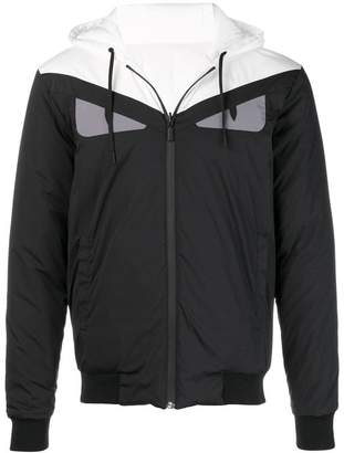 Fendi reversible hooded windbreaker jacket