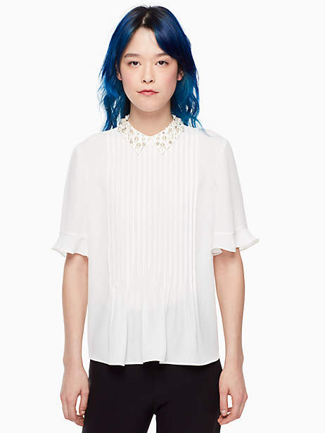 Pearl collar shirt