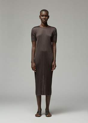Pleats Please Issey Miyake Short Sleeve June Dress