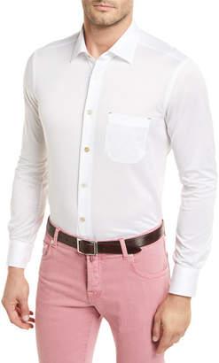 Kiton Cotton Knit Long-Sleeve Shirt